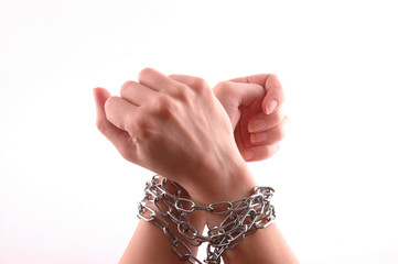 Hands with chain