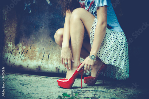 canvas print picture street fashion
