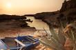 Tramonto su costa siciliana