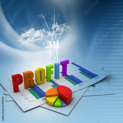 Business profit  graph .
