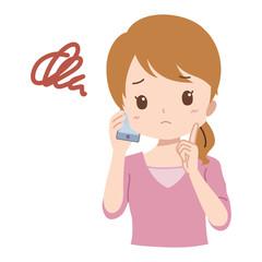 女性/電話