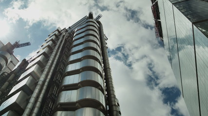 the Lloyds of london building in the financial heart of london