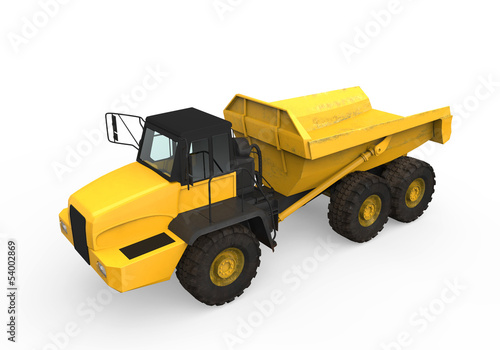 Dump Truck Isolated