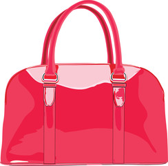 lacquered red bag