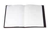 A blank address book isolated on white