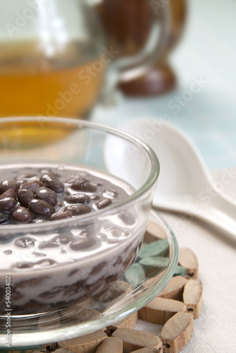 black bean in sweet coconut milk