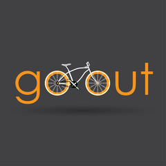 Go out with bicycle retro style.