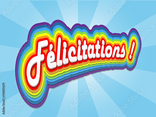 "Carte ""FELICITATIONS"" (carte voeux bravo compliments fierté)"