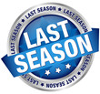 "Button Banner ""Last season"" Blue/Silver"
