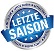 "Button Banner ""Letzte Saison"" blau/silber"
