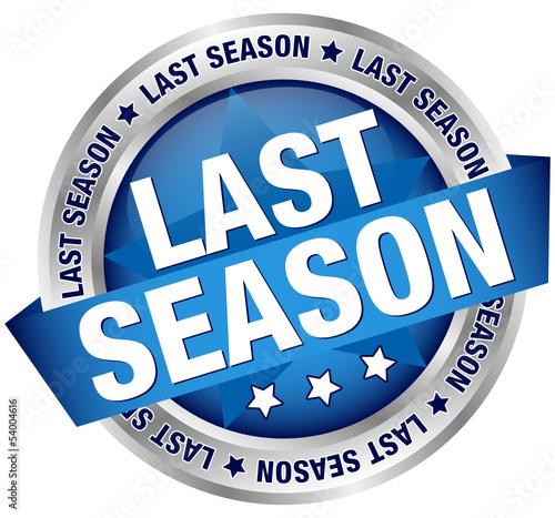 "Button Banner ""Last season"" Blue/Silver"