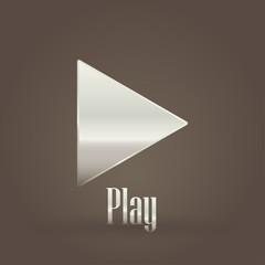 Metallic symbol Play