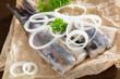 Frische Matjesfilets mit Zwiebeln