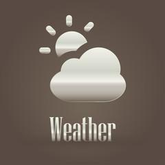 Metallic symbol weather