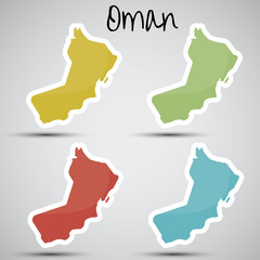 stickers in form of Oman