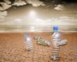 Botellas de plasticos en el Suelo