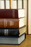 Holy Bible in different languages - english, hebrew and greek