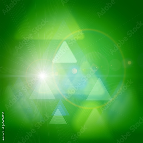 green abstract flare