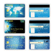 Set of Different Credit Cards isolated on white background