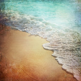 Grunge Paper Beach Background
