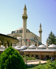 Mevlana mosque and museum in Konya, Turkey