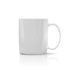 photorealistic white cup