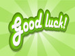 """GOOD LUCK!"" Card (wishes success congratulations best message)"