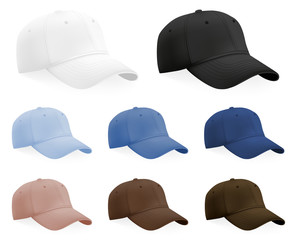 Baseball hats template set