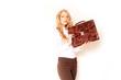 attraktive Geschäftsfrau mit Tasche