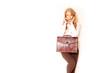 schöne Geschäftsfrau mit Tasche