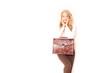 schöne Geschäftsfrau mit Aktentasche