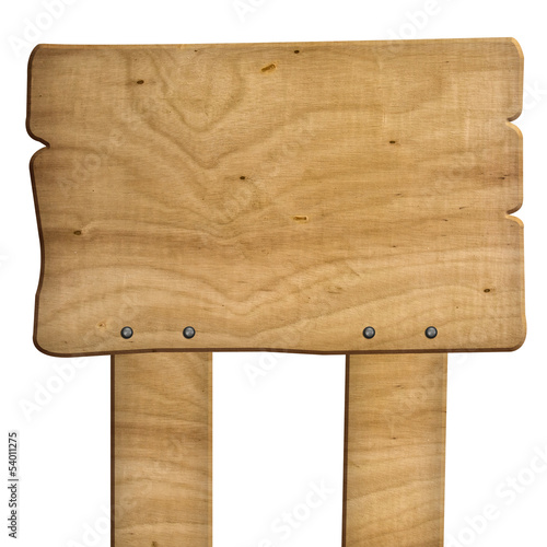 wooden sign isolated with clipping path