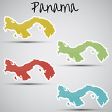 stickers in form of Panama