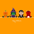 Halloween Pumpkin, Witch, Vampire & Devil