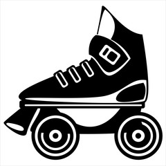 roller skate on white background
