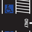 Parking space for the disabled