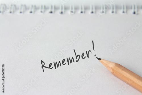 """Notiz """"Remember!"""""""