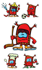 Funny cartoon sports carpets