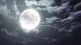 Halloween moon and dark sky