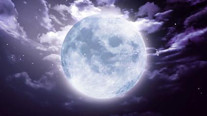 Large Halloween moon