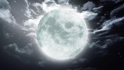 Large Halloween moon dark sky