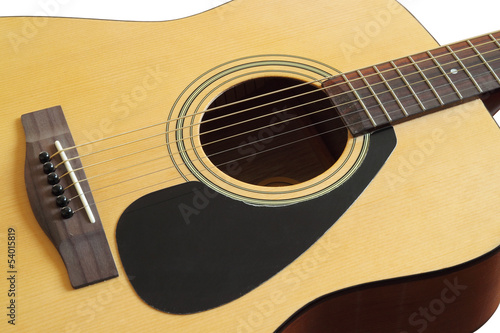 close-up of acoustic classic guitar