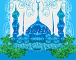 artistic pattern background with mosque