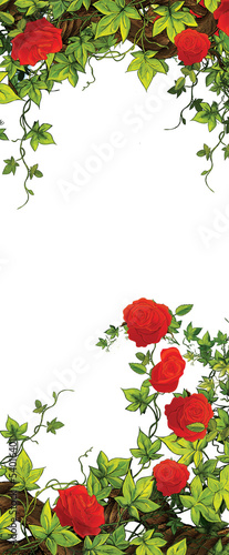 The rose frame - border - template