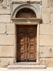 old door to the church