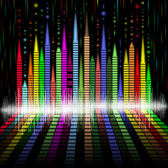 Abstract equalizer bacground (Vector illustration)