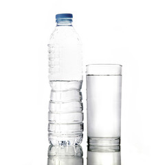 Water bottle and water glass