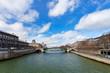 Seine river and Pont de Notre Dame in Paris