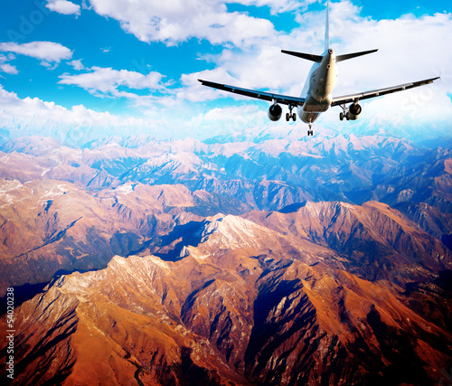 Aircraft in mountain landscape - 54020238