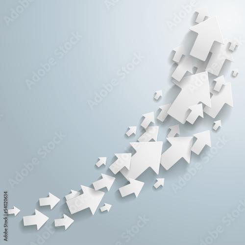 White Arrows Chart